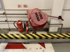 Fire hose reel station