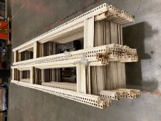 2 x Pallets of Metal Uprights Racking Frame