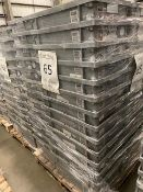 Pallet of 65 Grey Totes