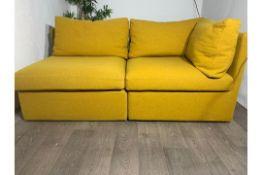 Modular 2 Piece Sofa