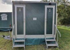 Towable Portable toilet block for events hire