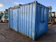 12ft Anti Vandal Steel Portable Site Office Canteen