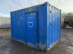 12ft Anti Vandal Steel Portable Site Office