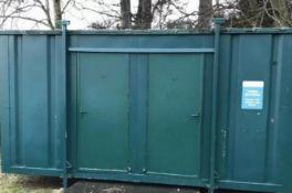 16ft 4 bay family shower block container cabin