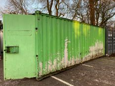 20ft x 8ft 50/50 split office/ store Container