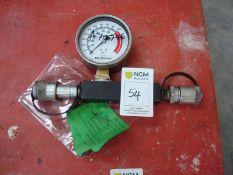 Pressure gauge 10,000 psi