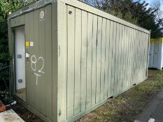20ft toilet block container