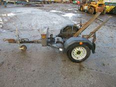 Terex benford MBR 71 walk behind vibrating roller trailer