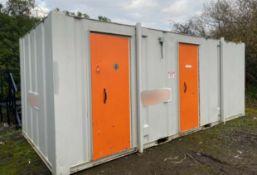 20ft 3 + 1 Toilet Block + Shower
