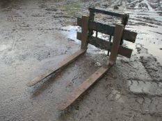 Forklift back plate and tines forks fork lift loader excavator