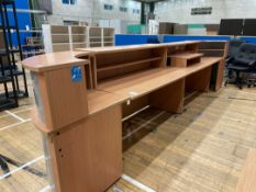 Modular Reception Desk - Wooden