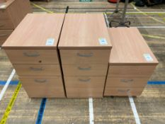 Filing Cabinets x 3, 3 Drawer Wooden