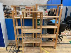 Storage Racks x 3, wooden