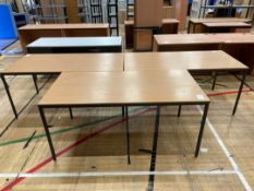 Office Desks x 3, Wooden Topped