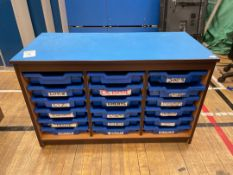 Storage Cabinet x 1, 18 Tray