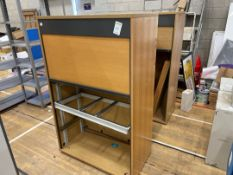 Storage Cabinets Roller Style Wooden