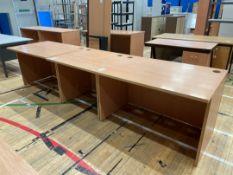 Modular Desks x 3, faux Wooden