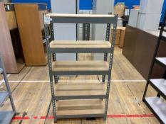 Storage Rack x 1, Metal frame faux wooden shelves
