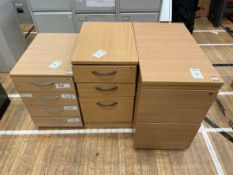 Faux Wooden Filing Cabinets x 3