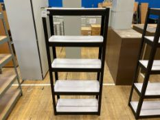 Storage Rack x 1 , Black Metal Frame