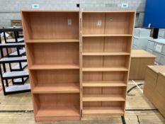 Bookshelves x 2 - faux Wooden