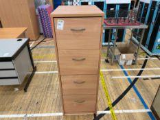 Filing Cabinet Wooden 4 Drawer