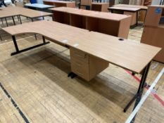 Office Desks x 2, Wooden Topped