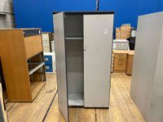Double Door Tall Wooden Storage Cabinet x 1