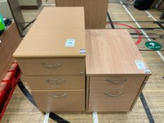 Faux Wooden Filing Cabinets x 2