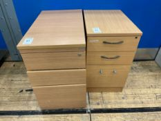 Filing Cabinets x 2, faux Wooden