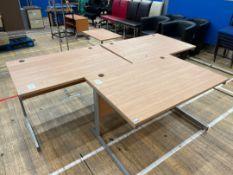 Office Desks x 3, Wooden