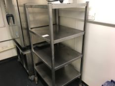 Stainless steel rack in unit