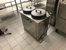 2 Bin plate warmer