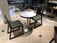 Pedestal table and two chairs