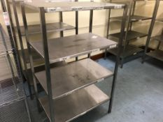 Stainless steel shelving unit