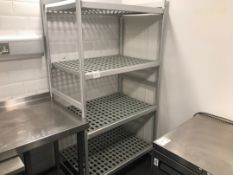 Aluminium and plastic drying racks
