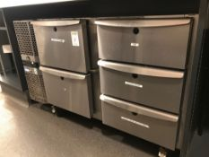 KBL precision five draw undercounter fridge Unit