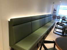 Banquette Large green bench seating
