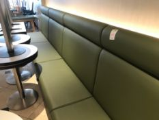 Banquette Large high-back green bench seating