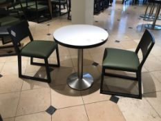 Small pedestal table with two chairs