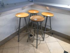 Silver and wood  barstools