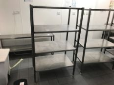 Stainless steel racking unit