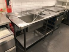 Single Stainless Steel Sink Unit with Spray Tap