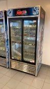 Double cold drinks fridge