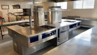 Charvet four station catering island