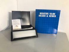 Negative slide holder and viewer
