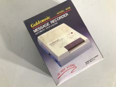 Gold Tronic message recorder