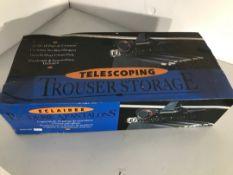Telescopic trouser storage hangers
