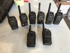 Digia handheld radios x8and a Motorola handheld radio NO RESERVE