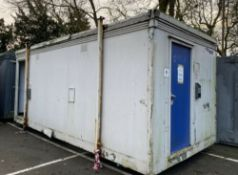 20ft 3 + 2 Male & Female Toilet Block Site Cabin